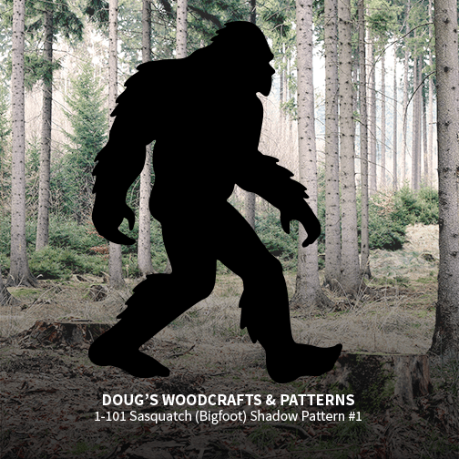 1-101 Sasquatch (Bigfoot) Shadow Pattern #1