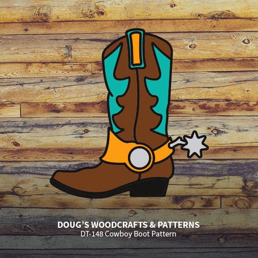 DT-148  Cowboy Boot Pattern