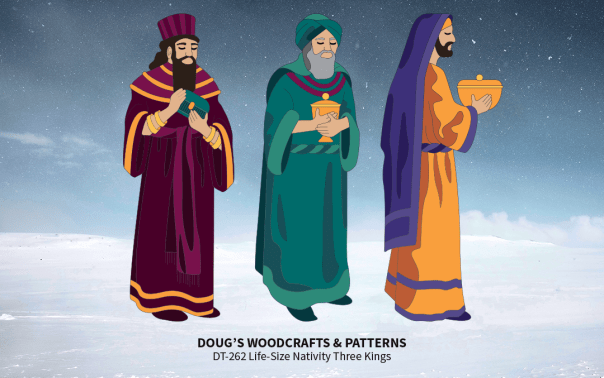 DT-262 Life-Size Natibvity - Three Standing Kings Pattern