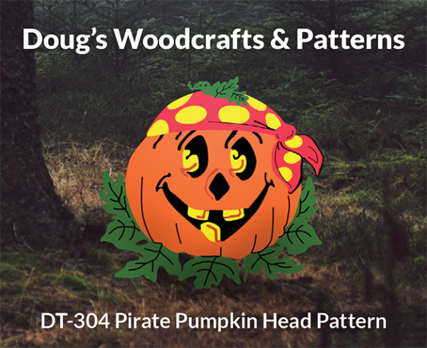 DT-304 PIRATE PUMPKINHEAD HALLOWEEN PATTERN