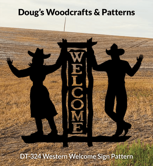 DT-324 Western Welcome Sign Pattern