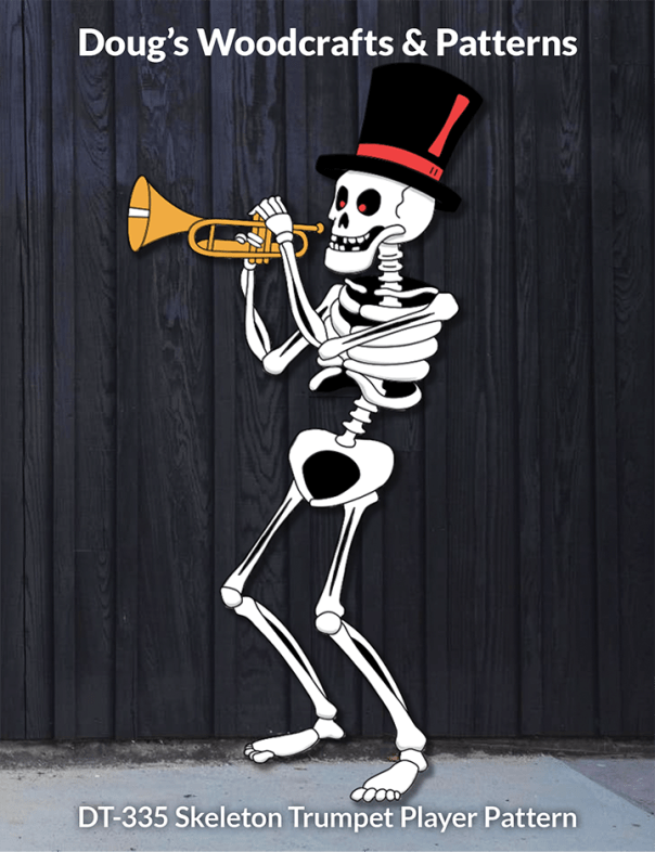 DT-335 Skeleton Trumpet Player Pattern