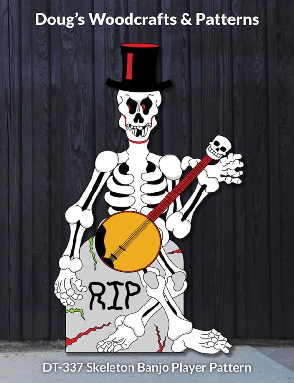 DT-337 Skeleton Banjo Player Pattern