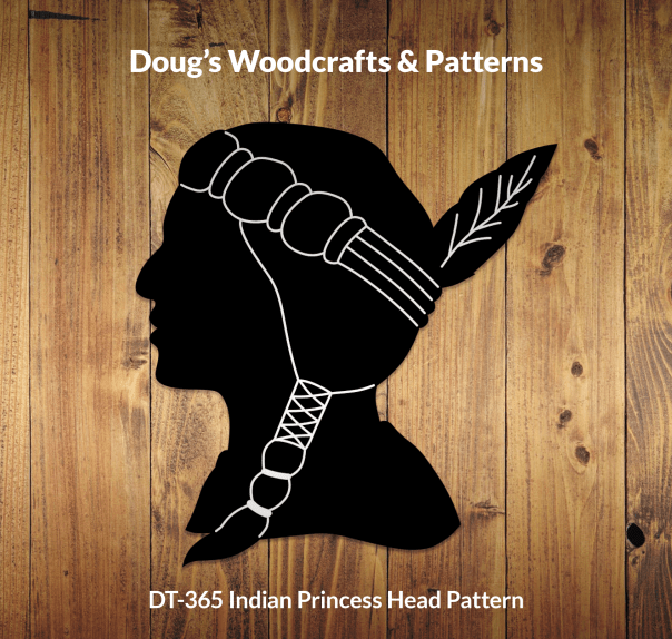 DT-365 Indian Princess Head Pattern