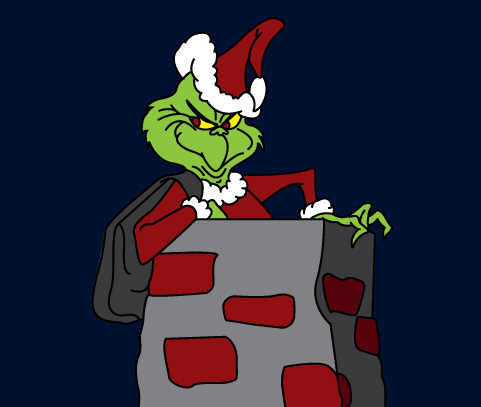 DT-137  Grinch In Chimney Pattern