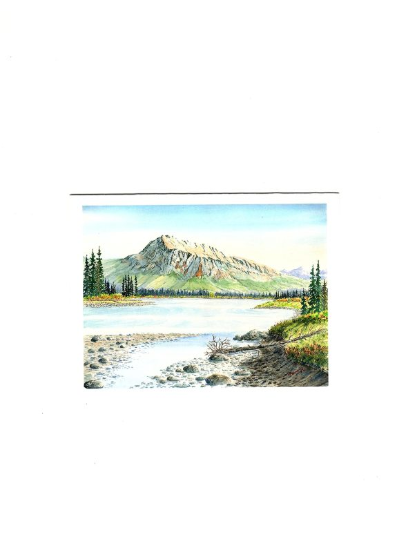 MOUNT HARDISTY WATERCOLOUR PRINT