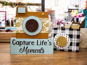 Polaroid Camera on Block