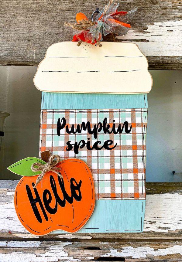 Pumpkin Spice Hanging Wooden Sign