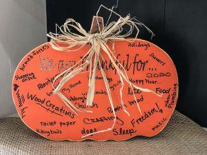 Gratitude Thanksgiving Pumpkin Block