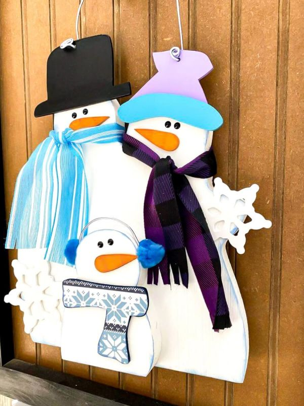 Snowman Family hanging