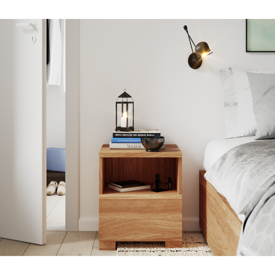 nightstand, wooden nightstand, bedside table, wooden bedside table
