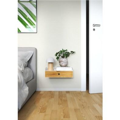 floating nightstand, wooden nightstand, metal nightstand, white nightstand