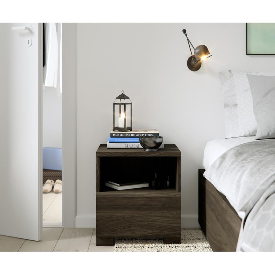 nightstand, wooden nightstand