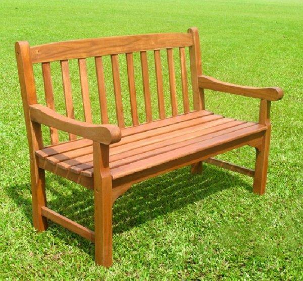 hardwood garden bench Jubilee 2 Seater (4Ft) Bench - Simply Wood