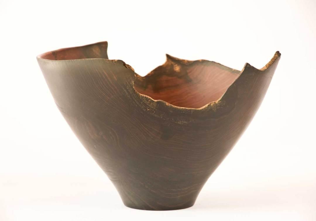 Bark Rimmed Acacia Bowl top view