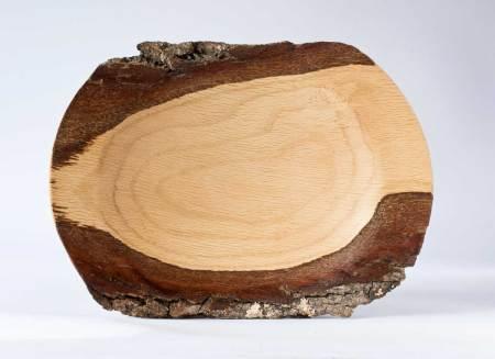 Bark edged oak Platter