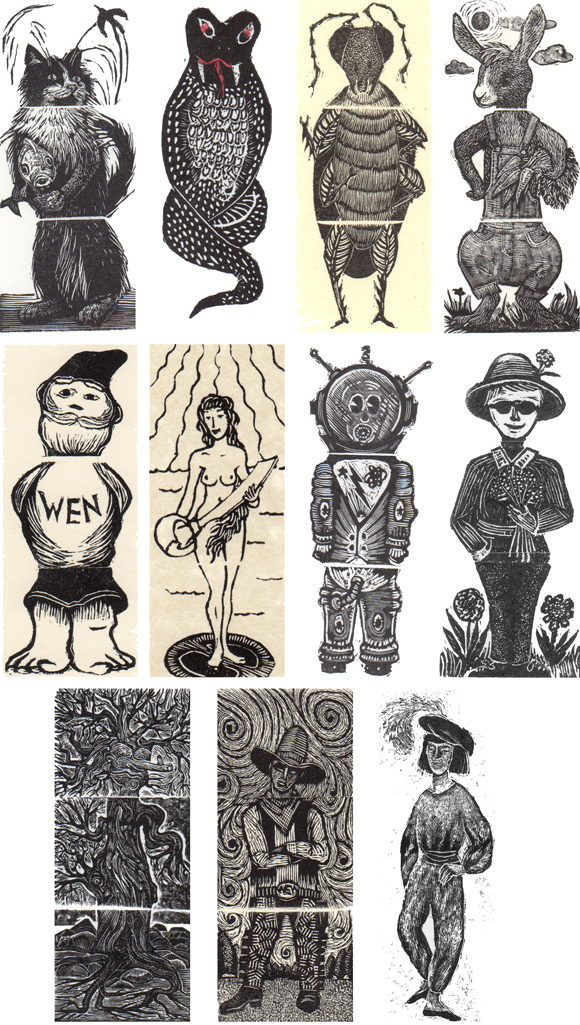 Characters from the Exquisite Corpse Project