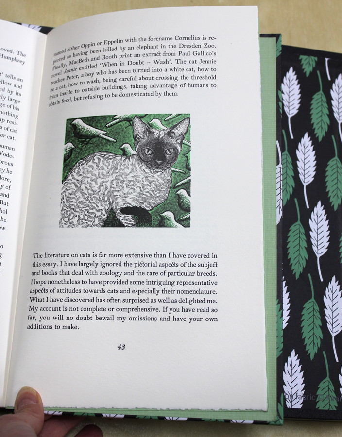"""""""When In Doubt, Wash! On the Naming of Cats"""" with engravings by Chris Daunt"""