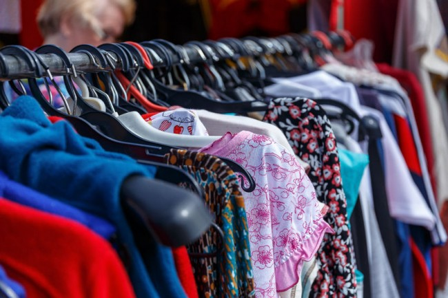 Summer tops image on rack from 123RF