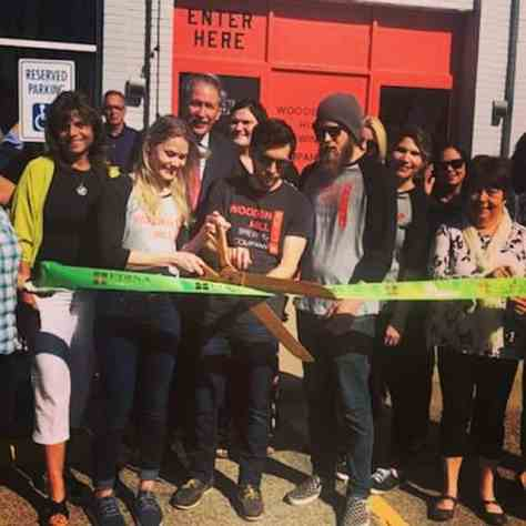 Edina, Wooden Hill Ribbon Cutting, Mayor Hovland