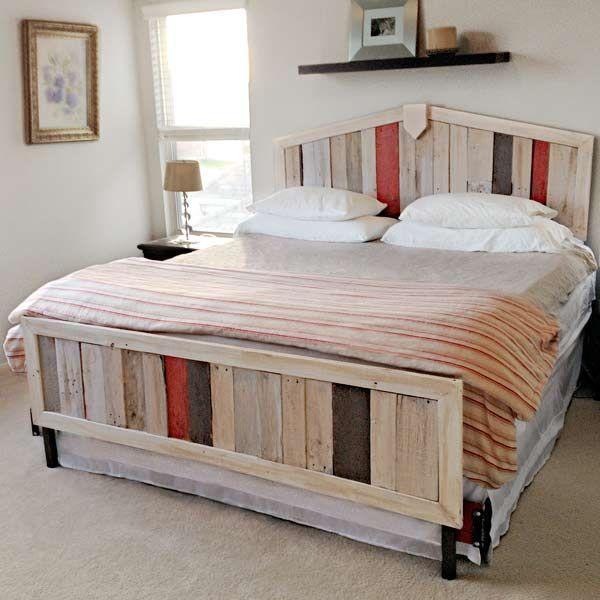 How to Make Pallet Room Divider | Wooden Pallet Furniture on Pallet Bed Room  id=54604