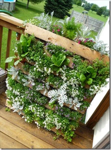 pallet planter vertical garden DIY Vertical Pallet Garden | Wooden Pallet Furniture