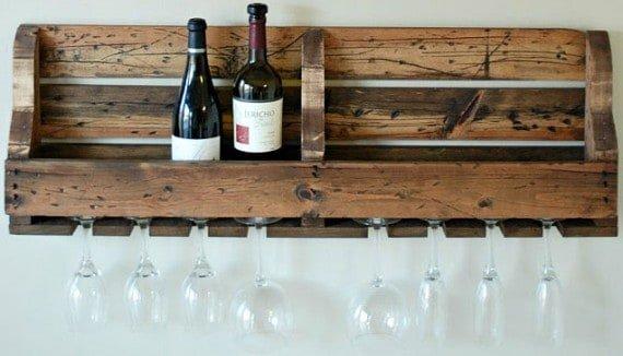 pallet shelf and wine rack ideas. Black Bedroom Furniture Sets. Home Design Ideas