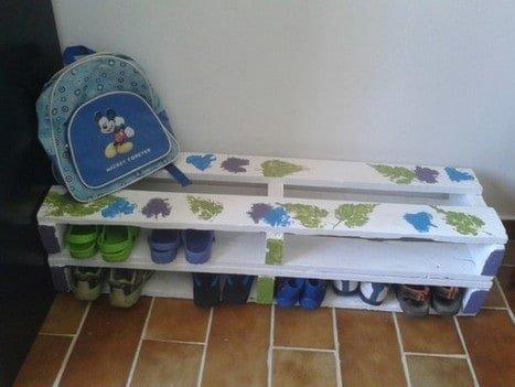 pallet shoe rack for kids