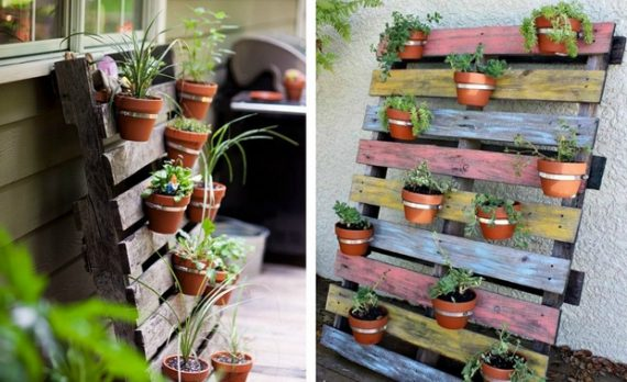 vertical-colorful-painted-pallet-garden