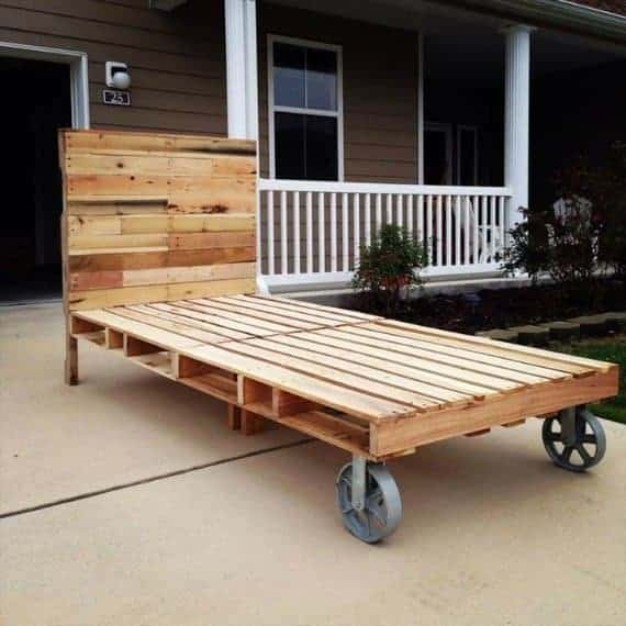 pallet-bed-with-headboard-and-cart-wheels