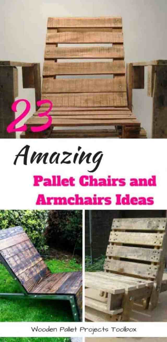 Pallet Chairs and ArmchairsIdeas