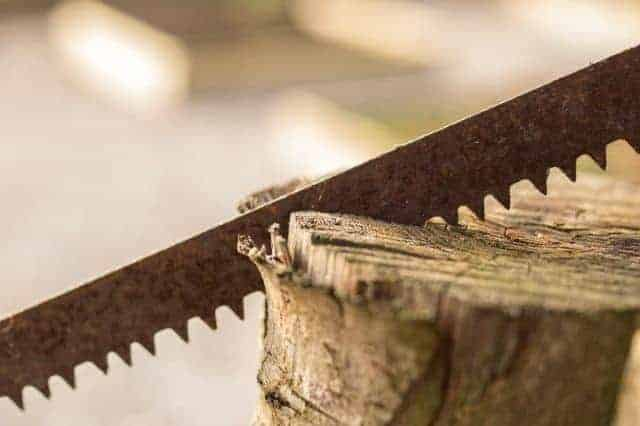 Jigsaw Blade in a piece of wood