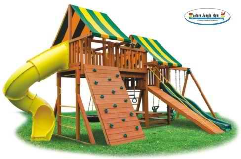 Eastern Jungle Gym Fantasy 2 Outdoor Swing Set Wooden