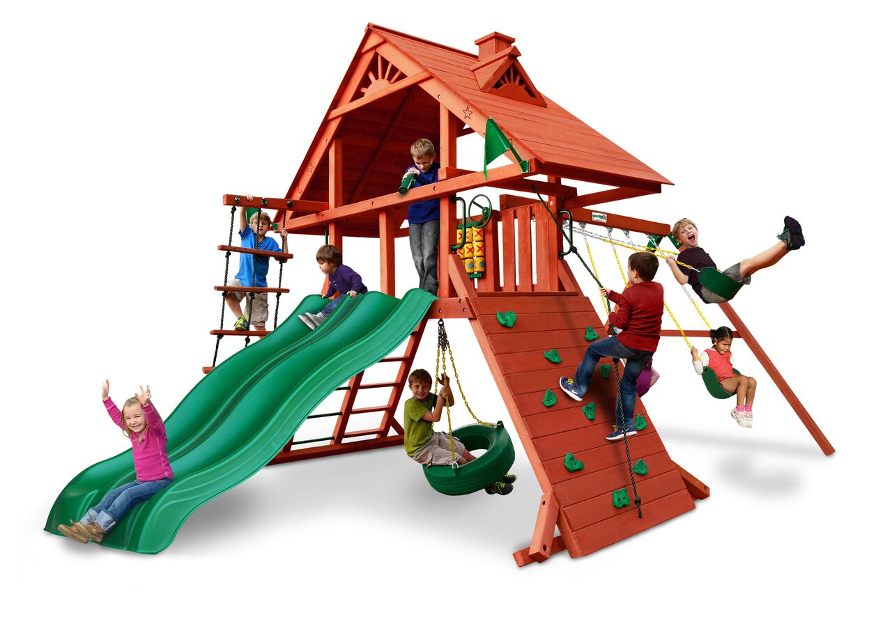 Gorilla Playsets Sun Palace Extreme Wooden Swing Set With