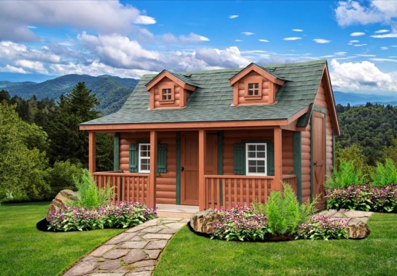 LakeSide Cabins Premier Collection - Log HomeSteader Jr. Playhouse