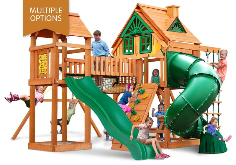 Gorilla Playsets Wilderness Gym Wooden Playset