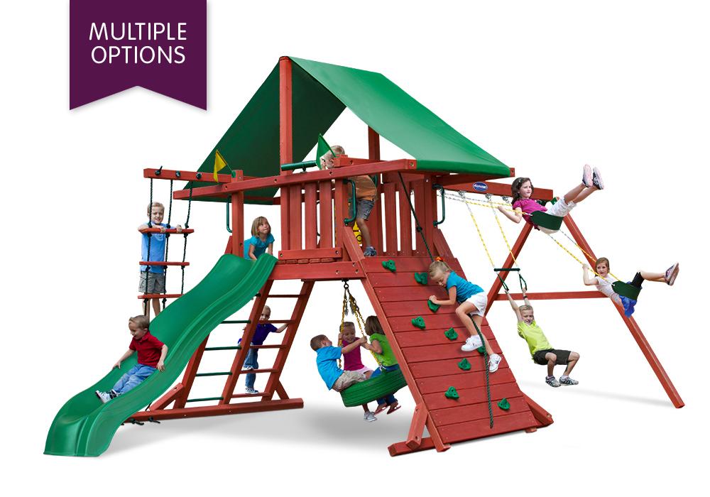 Playnation Swing Sets Russet Ridge Wooden Swing Set