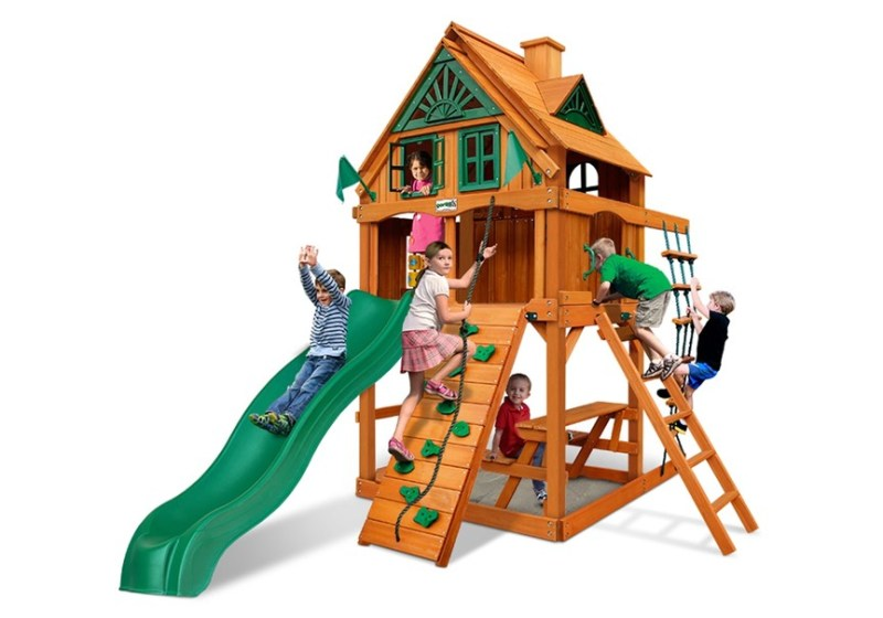 Gorilla Playsets Chateau Tower Treehouse with Fort Add-on-Kit