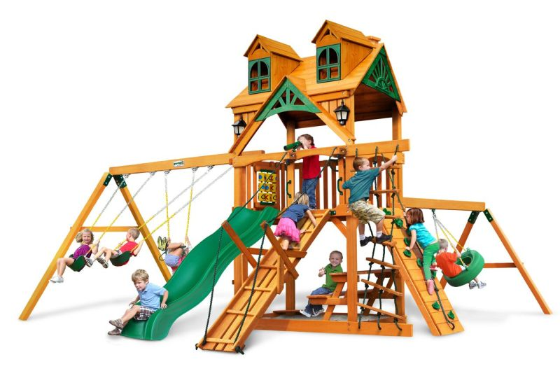 Gorilla Playsets Frontier with Malibu Wood Roof - AP