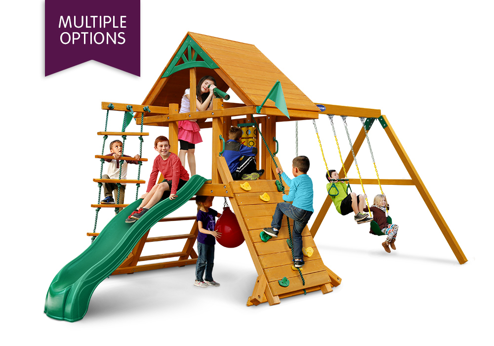 Gorilla Playsets High Point Wooden Playset