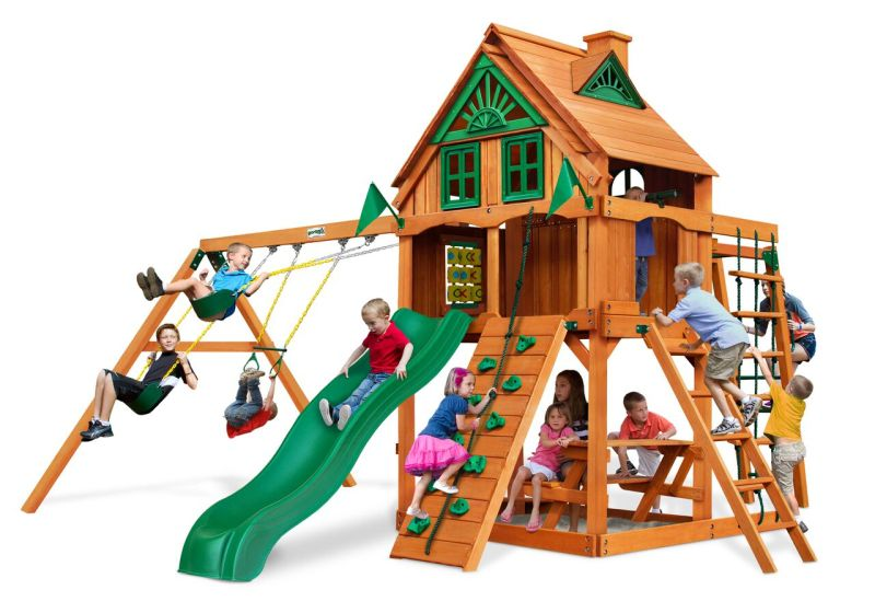 Gorilla Playsets Navigator Treehouse with Fort Add-On - AP