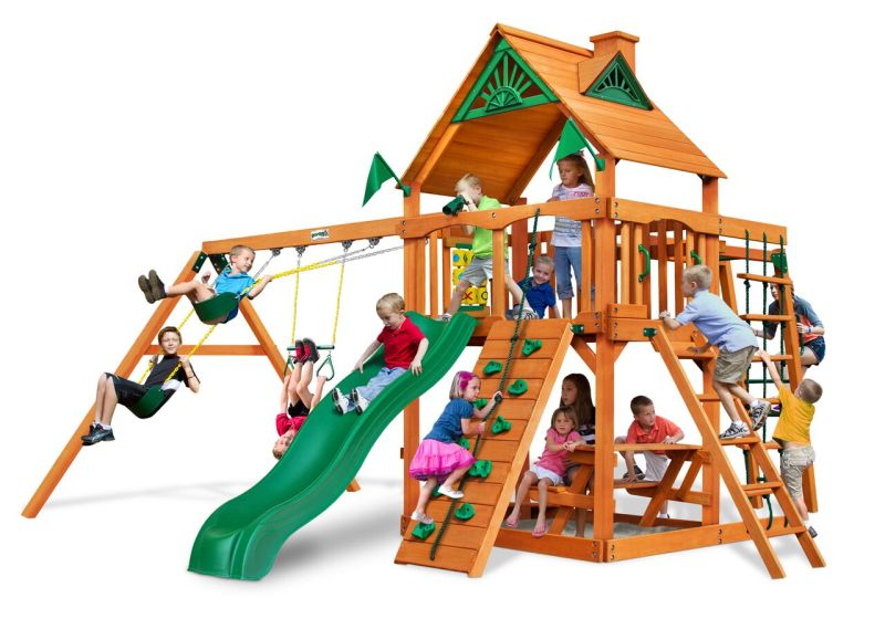 Gorilla Playsets Navigator with Standard Wood Roof - AP