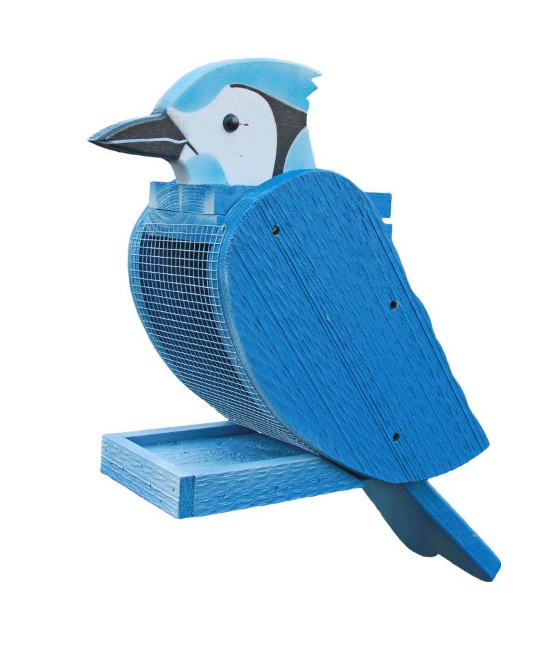 Blue Jay Bird Feeder by Beaver Dam