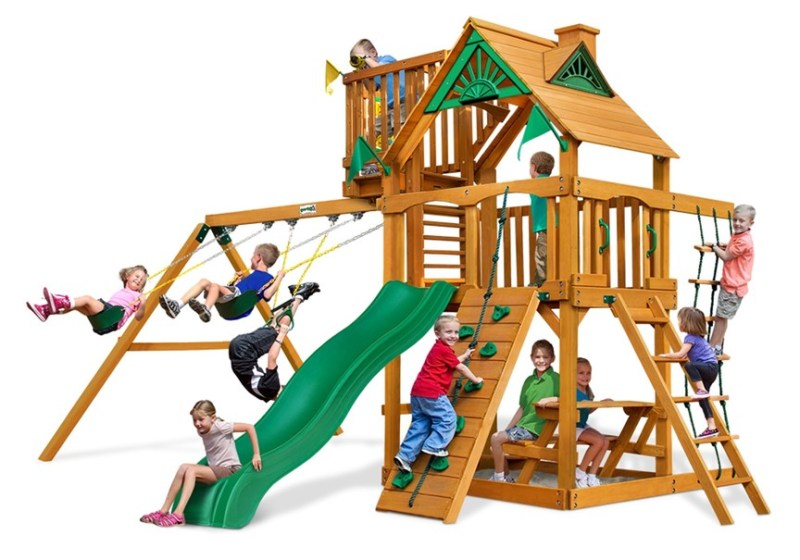 Gorilla Playsets Chateau with Sky Lot