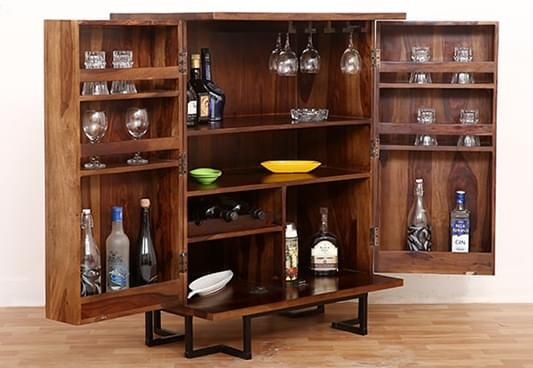 Buy Wooden Bar Cabinets Online At