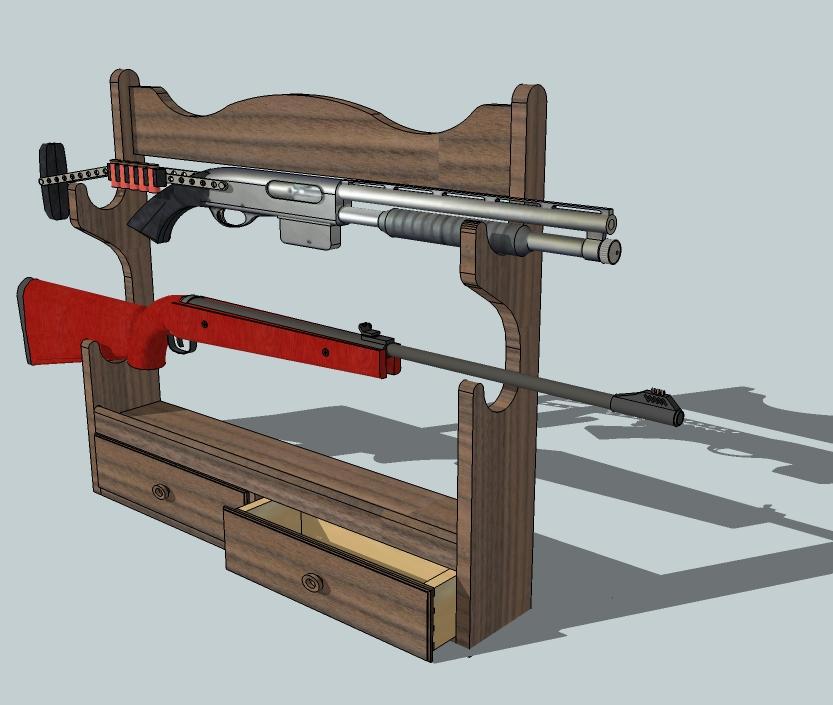 Build Gun Rack Template Diy Pdf Wooden Craft Table