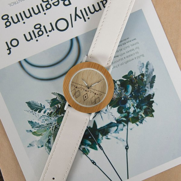 BOBO BIRD Stylish BOBO BIRD fashion natural bamboo handcrafted women wooden watch with white metal housing  часы женские 6