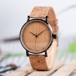 BOBO BIRD Ultra Thin Metal Male Watch Men Women Ladies Simple Quartz Wristwatches Cork Band relojes para mujer Dropshipping 1