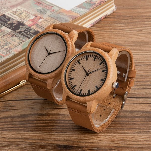 BOBO BIRD Mens Watches Top Brand Luxury Women Watch Wood Bamboo Wristwatches with Leather Strap relogio masculino DROP SHIPPING 5