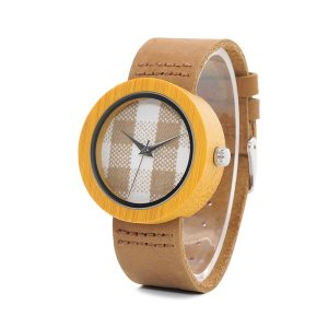 BOBO BIRD Promotion Wood Watch Casual Wristwatch relogio Leather Band To Him Christmas Gift Birthday Present Accept Dropship 1